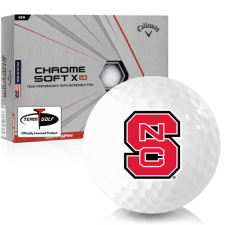 Callaway Golf Chrome Soft X LS North Carolina State Wolfpack Golf Balls