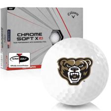 Callaway Golf Chrome Soft X LS Oakland Golden Grizzlies Golf Balls
