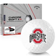 Callaway Golf Chrome Soft X LS Ohio State Buckeyes Golf Balls