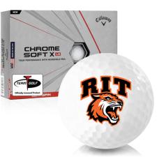 Callaway Golf Chrome Soft X LS RIT - Rochester Institute of Technology Tigers Golf Balls