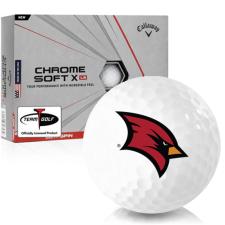 Callaway Golf Chrome Soft X LS Saginaw Valley State Cardinals Golf Balls