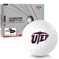 Callaway Golf Chrome Soft X LS Texas El Paso Miners Golf Balls