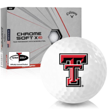 Callaway Golf Chrome Soft X LS Texas Tech Red Raiders Golf Balls