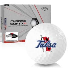 Callaway Golf Chrome Soft X LS Tulsa Golden Hurricane Golf Balls