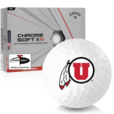 Callaway Golf Chrome Soft X LS Utah Utes Golf Balls