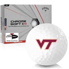 Callaway Golf Chrome Soft X LS Virginia Tech Hokies Golf Balls