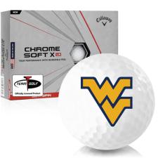 Callaway Golf Chrome Soft X LS West Virginia Mountaineers Golf Balls