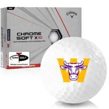 Callaway Golf Chrome Soft X LS Williams College Ephs Golf Balls