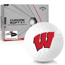 Callaway Golf Chrome Soft X LS Wisconsin Badgers Golf Balls