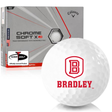 Callaway Golf Chrome Soft X LS Triple Track Bradley Braves Golf Balls