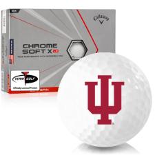 Callaway Golf Chrome Soft X LS Triple Track Indiana Hoosiers Golf Balls