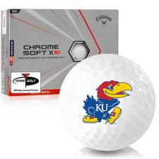 Callaway Golf Chrome Soft X LS Triple Track Kansas Jayhawks Golf Balls