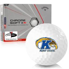 Callaway Golf Chrome Soft X LS Triple Track Kent State Golden Flashes Golf Balls