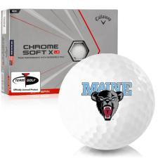 Callaway Golf Chrome Soft X LS Triple Track Maine Black Bears Golf Balls