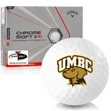 Callaway Golf Chrome Soft X LS Triple Track Maryland Baltimore County Retrievers Golf Balls