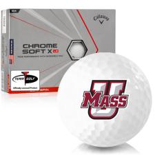 Callaway Golf Chrome Soft X LS Triple Track UMass Minutemen Golf Balls