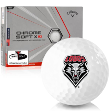 Callaway Golf Chrome Soft X LS Triple Track New Mexico Lobos Golf Balls