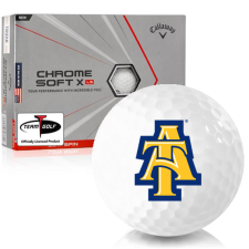 Callaway Golf Chrome Soft X LS Triple Track North Carolina A&T Aggies Golf Balls