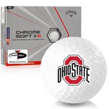 Callaway Golf Chrome Soft X LS Triple Track Ohio State Buckeyes Golf Balls