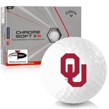 Callaway Golf Chrome Soft X LS Triple Track Oklahoma Sooners Golf Balls