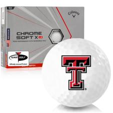 Callaway Golf Chrome Soft X LS Triple Track Texas Tech Red Raiders Golf Balls