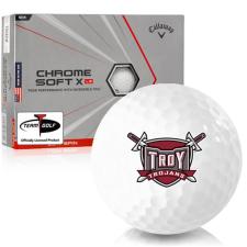 Callaway Golf Chrome Soft X LS Triple Track Troy Trojans Golf Balls