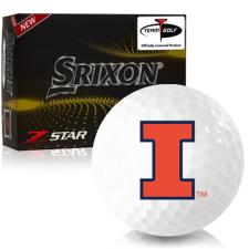 Srixon Z-Star 7 Illinois Fighting Illini Golf Balls