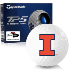 Taylor Made TP5 Illinois Fighting Illini Golf Balls