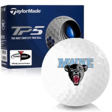 Taylor Made TP5 Maine Black Bears Golf Balls