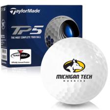 Taylor Made TP5 Michigan Tech Huskies Golf Balls