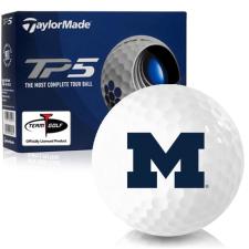 Taylor Made TP5 Michigan Wolverines Golf Balls