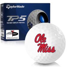 Taylor Made TP5 Ole Miss Rebels Golf Balls