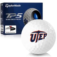 Taylor Made TP5 Texas El Paso Miners Golf Balls