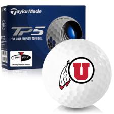 Taylor Made TP5 Utah Utes Golf Balls