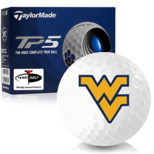 Taylor Made TP5 West Virginia Mountaineers Golf Balls