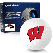 Taylor Made TP5 Wisconsin Badgers Golf Balls