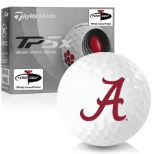Taylor Made TP5x Alabama Crimson Tide Golf Balls