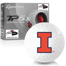 Taylor Made TP5x Illinois Fighting Illini Golf Balls
