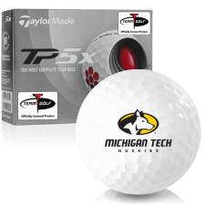 Taylor Made TP5x Michigan Tech Huskies Golf Balls