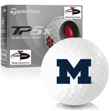 Taylor Made TP5x Michigan Wolverines Golf Balls