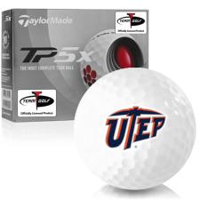 Taylor Made TP5x Texas El Paso Miners Golf Balls
