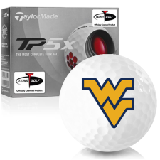 Taylor Made TP5x West Virginia Mountaineers Golf Balls