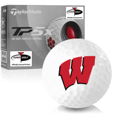 Taylor Made TP5x Wisconsin Badgers Golf Balls